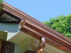 copper gutter install