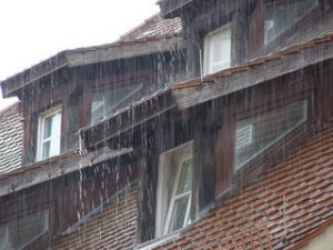 rain damage to roofing systems