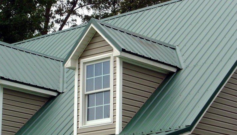 Green Standing Seam Metal Roof
